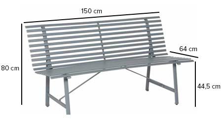 banc de jardin en m tal tampa hesp ride jardideco. Black Bedroom Furniture Sets. Home Design Ideas