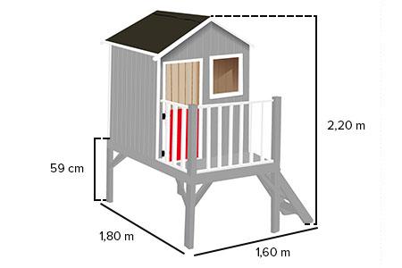 Cabane enfant bois pas cher louise soulet - Maisonnette en bois sur pilotis pas cher ...