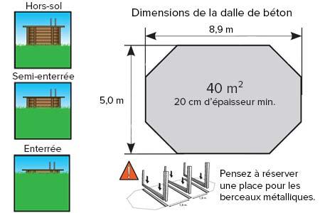 Piscine bois pas cher oc a 8 60 x 4 70 x 1 30 m ubbink for Dimension piscine standard