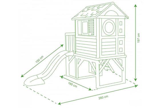 Cabane pour enfant en pvc mod le pilotis smoby - Maison de jardin jura lodge smoby avignon ...