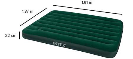 matelas d 39 appoint classic intex 2 places vert jardideco. Black Bedroom Furniture Sets. Home Design Ideas