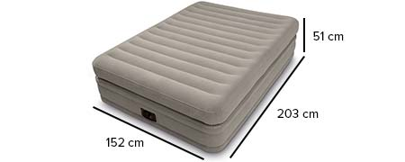 matelas gonflable intex prime confort fiber tech 2 places. Black Bedroom Furniture Sets. Home Design Ideas