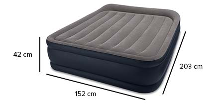 matelas gonflable intex rest bed deluxe fiber tech 2 places. Black Bedroom Furniture Sets. Home Design Ideas