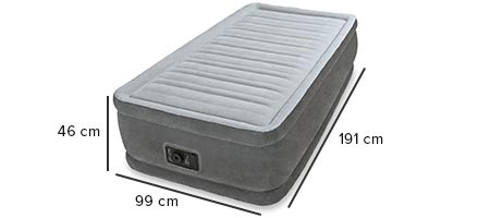 dimensions matelas gonflable intex 64412