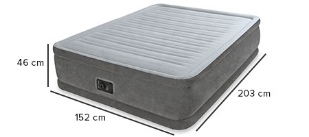 dimensions matelas gonflable intex 64414