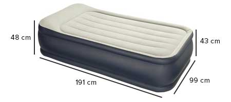 matelas gonflable intex 1 place lectrique jardideco. Black Bedroom Furniture Sets. Home Design Ideas