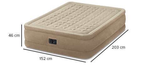 Matelas gonflable intex ultra plush 2 places jardideco - Matelas gonflable a l air ...