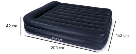 dimensions matelas rest bed intex 66702