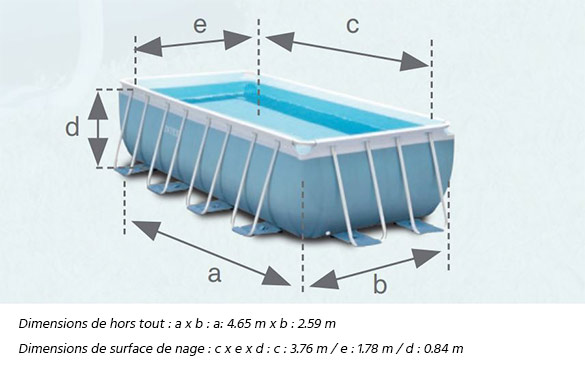 Piscine tubulaire rectangulaire intex 4 x 2 x 1 m filtration for Liner piscine tubulaire intex