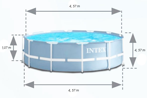 Piscine Tubulaire Ronde Intex Prism Frame 4 57 M