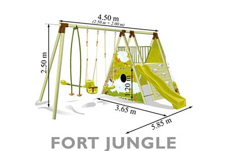dimensions portique fort jungle