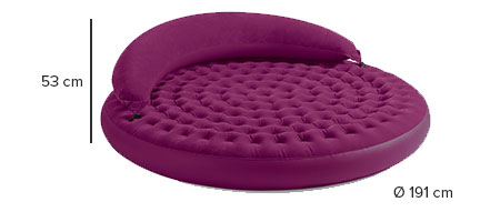 Pouf gonflable lounge cosy prune intex jardideco - Matelas gonflable rond ...
