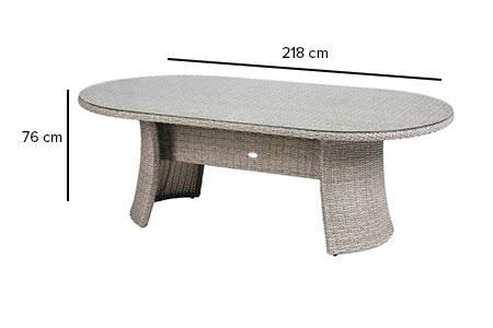 Table de jardin Hespéride ovale Libertad 8 places en résine tressée