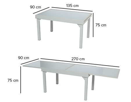 Awesome table de jardin dimension photos amazing house for Table extensible piazza