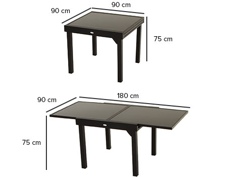 Emejing table de jardin extensible plastique ideas amazing house design Table de jardin plastique taupe