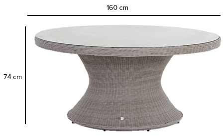 Table de jardin ronde hesp ride mod le manille 6 places - Dimension table ronde ...