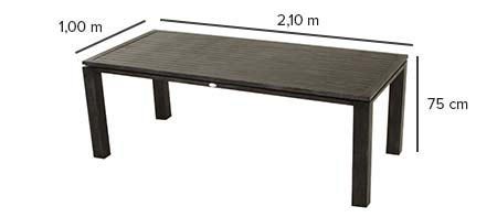 Table de jardin hesp ride figari 8 places noir jardideco - Table jardin sans entretien saint paul ...