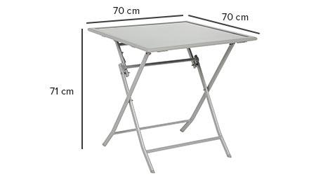 table de jardin hesperide carr e flexia 70 x 70 cm jardideco. Black Bedroom Furniture Sets. Home Design Ideas