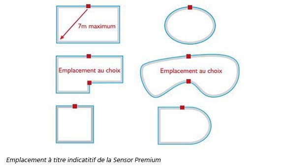 Alarme de piscine sensor premium maytronics jardideco for Alarme piscine sensor premium