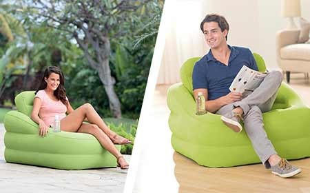 fauteuil gonflable intex square pas cher jardideco. Black Bedroom Furniture Sets. Home Design Ideas