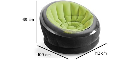 fauteuil gonflable onyx dimensions