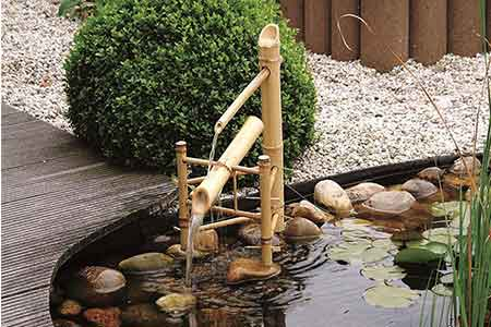 Fontaine pour bassin en bambou naturel Bamboo Ubbink | Jardideco