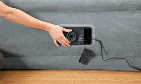 Matelas gonflable lectrique 2 places intex fiber tech 67770 - Matelas intex gonfleur integre ...