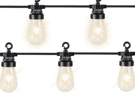 guirlande lumineuse kaemingk led blanc chaud ampoules transparentes. Black Bedroom Furniture Sets. Home Design Ideas