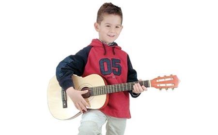 guitare enfant pas cher en bois 75 cm bontempi m thode. Black Bedroom Furniture Sets. Home Design Ideas