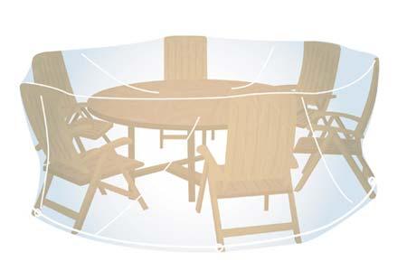Housse de protection transparente pour salon de jardin rond à prix mini