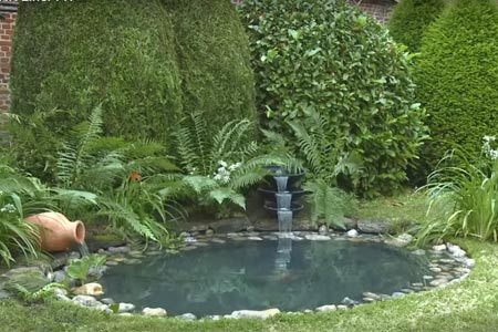 B che pvc aqualiner pour bassin for Ornement bassin jardin