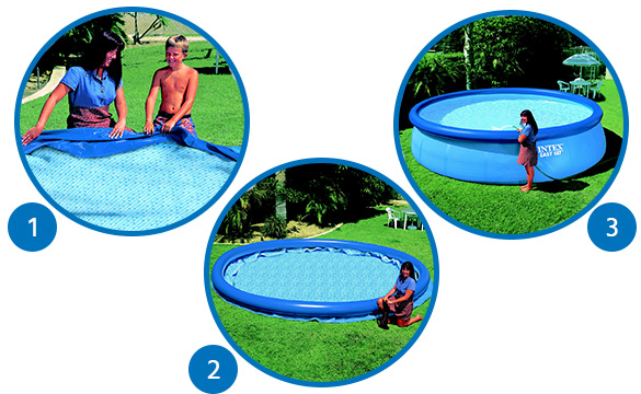 piscine autoport e intex 4 57 m x h 1 07 m filtration. Black Bedroom Furniture Sets. Home Design Ideas