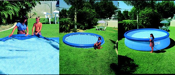 piscine autoport e intex ronde 2 44 x 0 76 m easy set jardideco. Black Bedroom Furniture Sets. Home Design Ideas