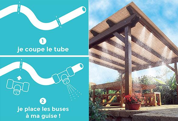 kit brumisateur ext rieur autonome 11 buses int gr es. Black Bedroom Furniture Sets. Home Design Ideas