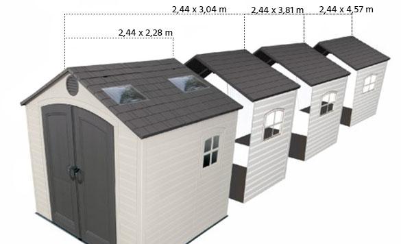 abri de jardin pvc sentinel 60015 5 58 m jardideco. Black Bedroom Furniture Sets. Home Design Ideas