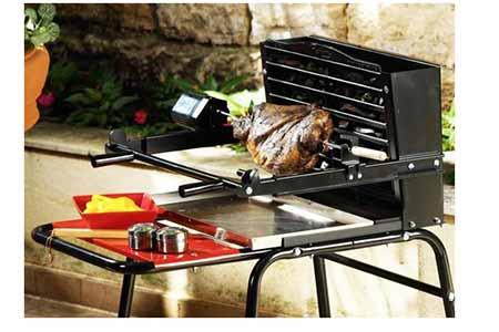 Kit tournebroche pour barbecue raymond somagic jardideco - Barbecue avec tournebroche ...