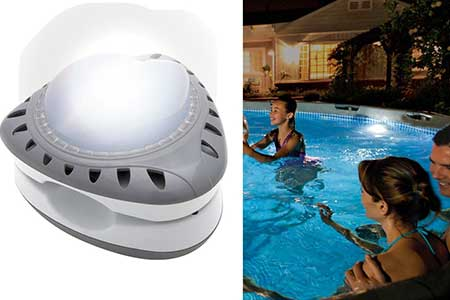 lampe piscine blanche intex