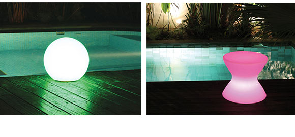 lampes lumineuses pour piscine