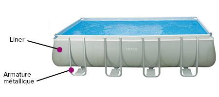 liner seul intex gris pour piscine tubulaire rectangulaire 4 57 x 2 74 m. Black Bedroom Furniture Sets. Home Design Ideas