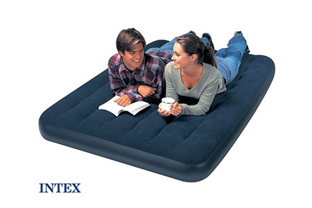 Matelas d 39 appoint intex classic downy xl 1 2 places - Lit gonflable intex ...