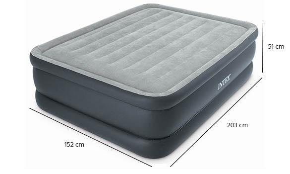 Matelas gonflable intex essential rest avec fiber tech 2 places - Dimension matelas 2 places ...