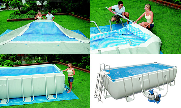 piscine tubulaire rectangulaire intex 4 57x2 74x1 22 m jardideco. Black Bedroom Furniture Sets. Home Design Ideas