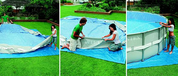 piscine tubulaire intex ronde 4 88 x 1 22 m eau jardideco. Black Bedroom Furniture Sets. Home Design Ideas