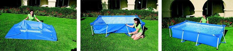 piscine tubulaire intex carr e 1 22 x 1 22 x 0 30 m prix. Black Bedroom Furniture Sets. Home Design Ideas