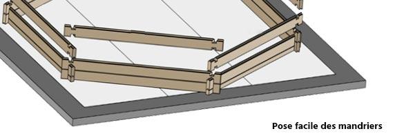 Piscine bois sunbay evora 6 x 4 x 1n33 m filtration for Monter une piscine en bois