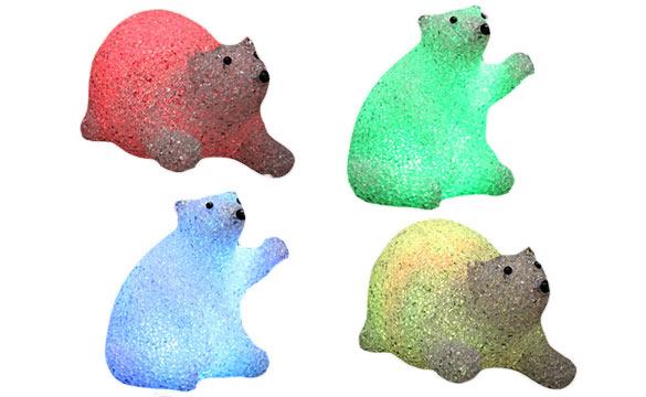 D coration de no l ours lumineux eva led jardideco for Spot lumineux pour noel