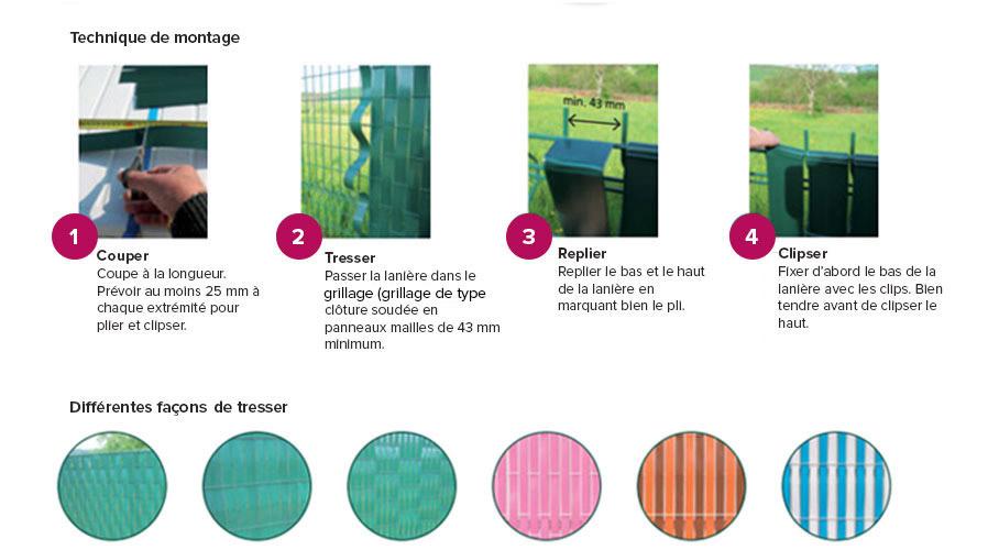 lani re pvc pour palissade largeur 60 m 100 clips jardideco. Black Bedroom Furniture Sets. Home Design Ideas