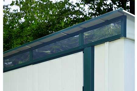 Abri de jardin monopente en acier galvanis m jardideco - Abris de jardin luxe grenoble ...