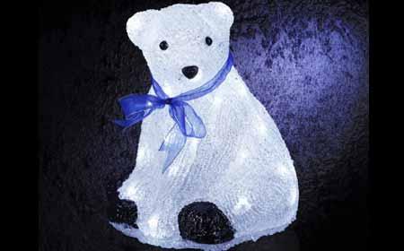 Decoration Noel Rebord De Fenetre Exterieur Ours Lumineux