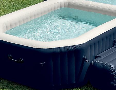 Spa gonflable intex avec piscine int gr e et accessoires - Temperature ideale piscine ...